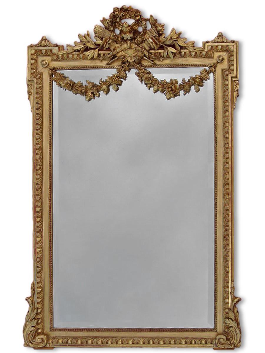 miroir du xixe dor la feuille d 39 or. Black Bedroom Furniture Sets. Home Design Ideas