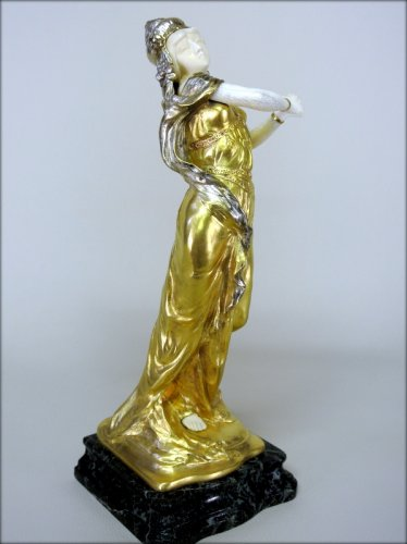 Statue Art-Nouveau signed TH. SOMME - Sculpture Style Art nouveau