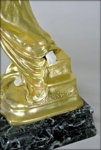 Art nouveau - Statue Art-Nouveau signed TH. SOMME