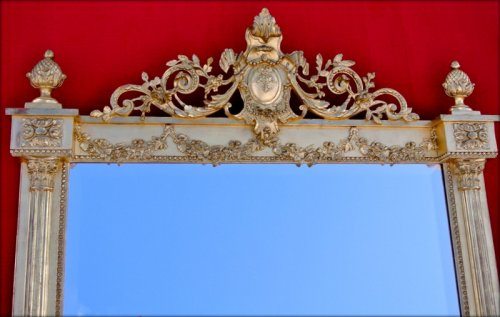 Mirror late 19th - Mirrors, Trumeau Style Napoléon III