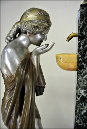 Antiquités - «Young woman at the Fountain of Cupid» by Charles Raphaël Peyre