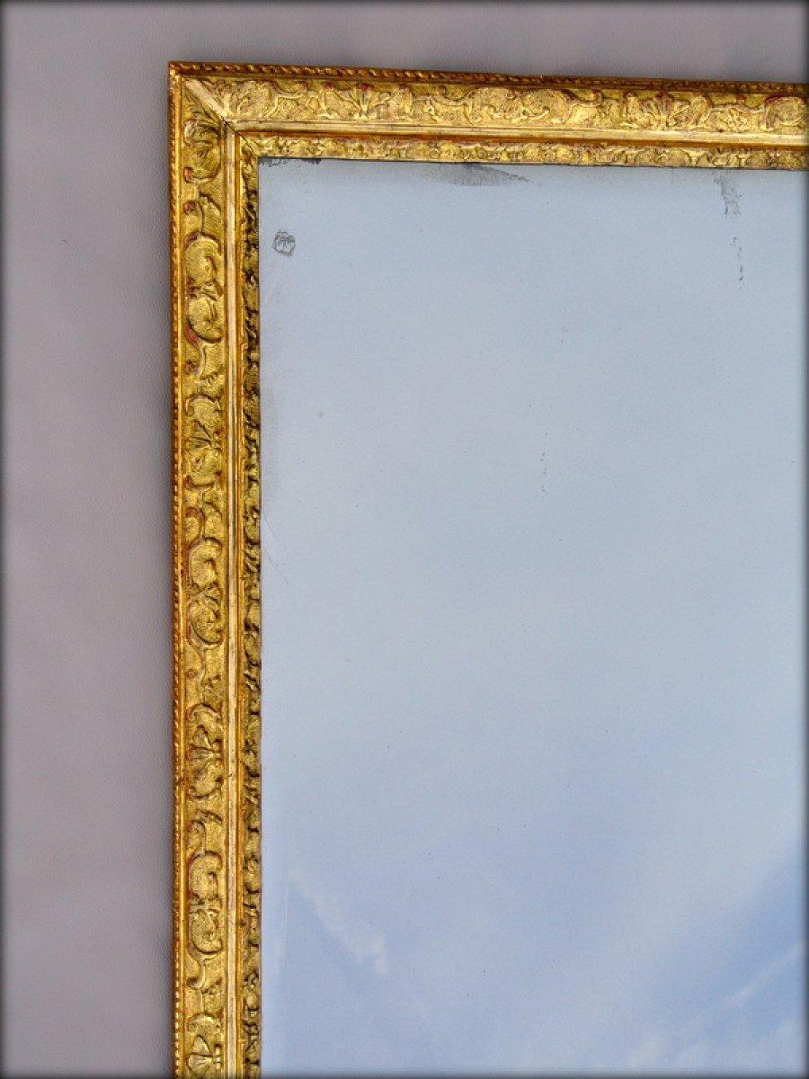 Miroir cadre bois dor xviiie si cle for Cadre miroir bois