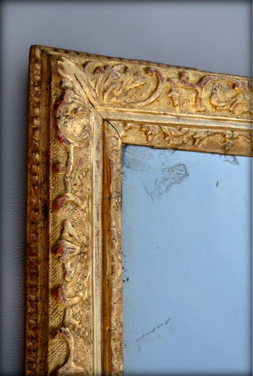 Miroir cadre bois dor xviiie si cle for Miroir cadre dore