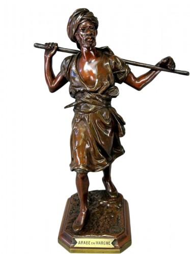 Orientalist statuette in bronze signed PINEDO
