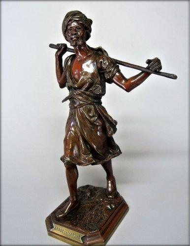 Orientalist statuette in bronze signed PINEDO - Sculpture Style Napoléon III