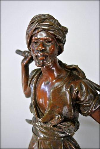 Orientalist statuette in bronze signed PINEDO - Napoléon III