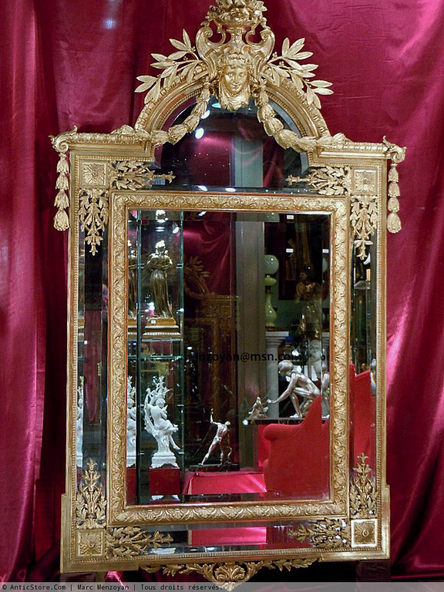 Grand miroir napol on iii parcloses xixe si cle for Miroir napoleon