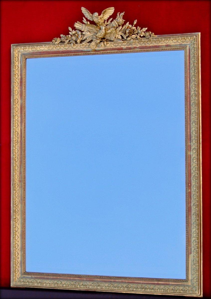 Miroir fronton fin xixe for Miroir sans fin