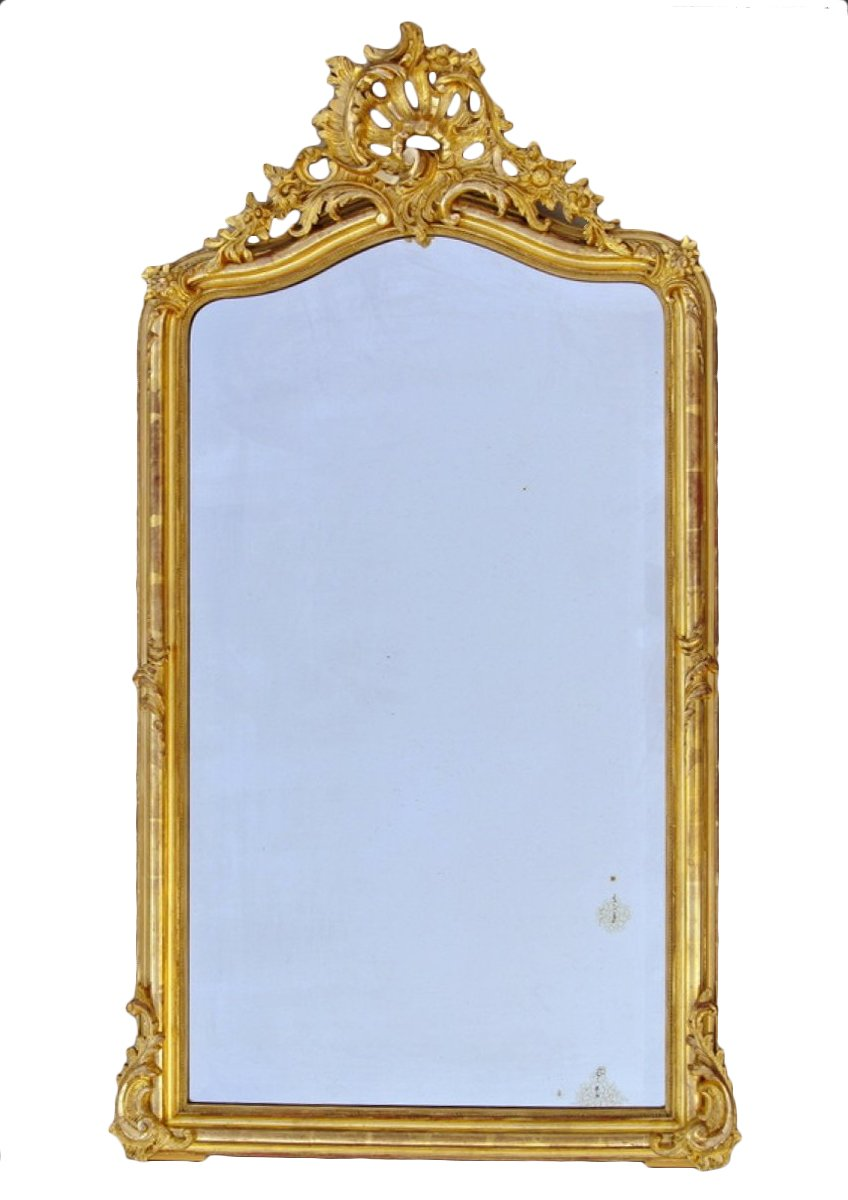 Miroir fronton d 39 poque fin xixe for On traverse un miroir