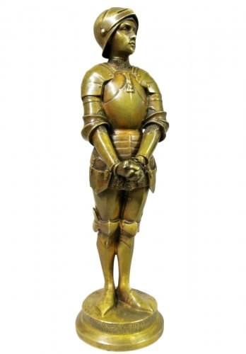 """Jeanne d'Arc prisoner"" statuette signed Barrias"