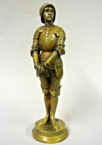"""Jeanne d'Arc prisoner"" statuette signed Barrias - Sculpture Style Art nouveau"