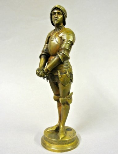 "Sculpture  - ""Jeanne d'Arc prisoner"" statuette signed Barrias"