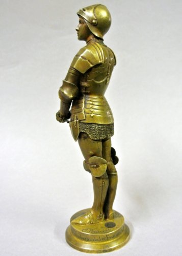 """Jeanne d'Arc prisoner"" statuette signed Barrias -"
