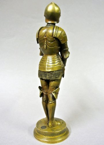 "19th century - ""Jeanne d'Arc prisoner"" statuette signed Barrias"