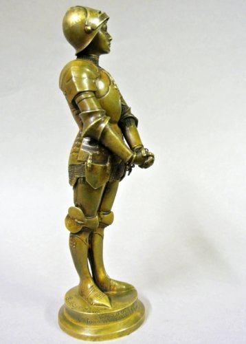 """Jeanne d'Arc prisoner"" statuette signed Barrias - Art nouveau"