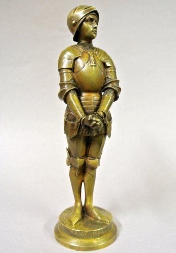 "Art nouveau - ""Jeanne d'Arc prisoner"" statuette signed Barrias"