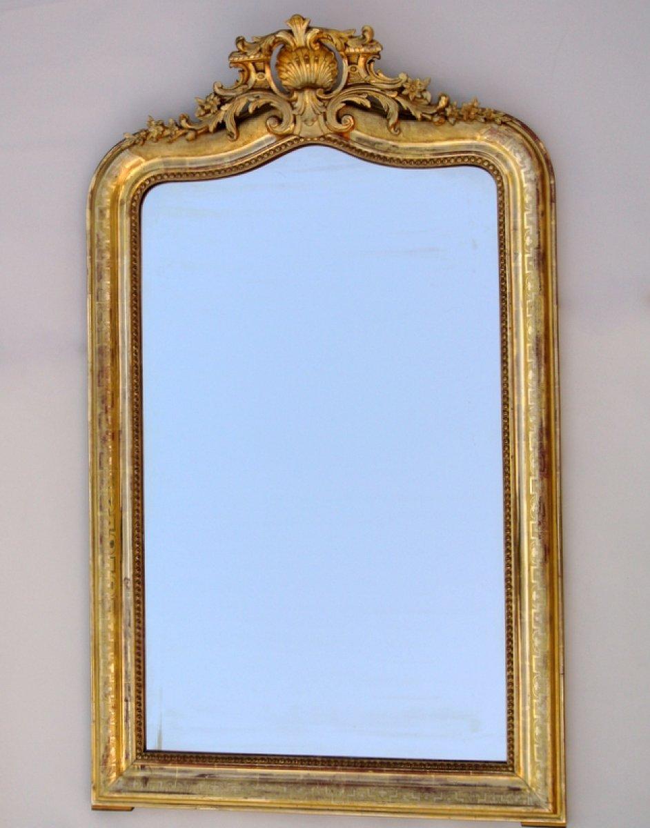 Miroir fronton du xixe for Miroir moulure