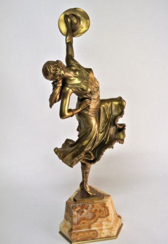 Dancer of Mexico - Bronze CL JR COLINET - Sculpture Style Art Déco