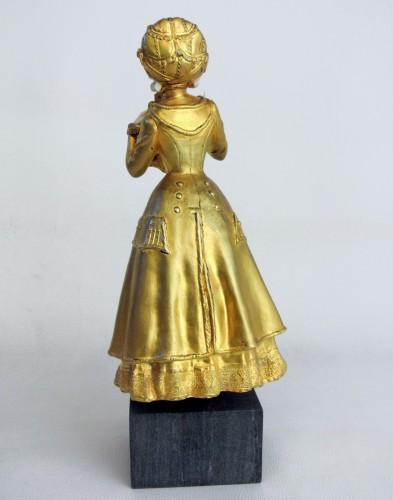 Elegant young woman - René Marquet (1875-1939) - Sculpture Style Art nouveau