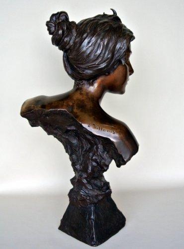 Antiquités - Bronze bust - E. VILLANIS (1858 -1914)