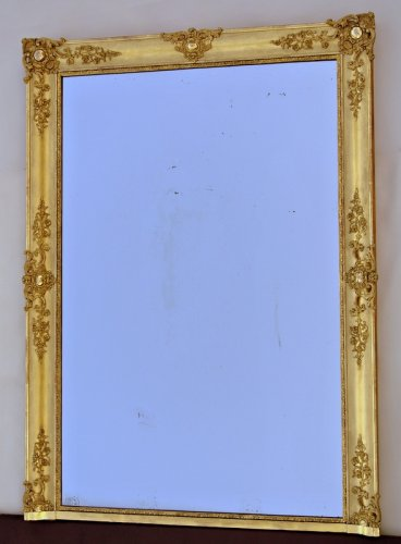 Miroir mid 19th century - Mirrors, Trumeau Style Restauration - Charles X