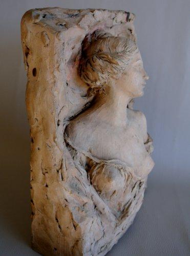 Art nouveau - Sculpture signed CH. DESVERGNES