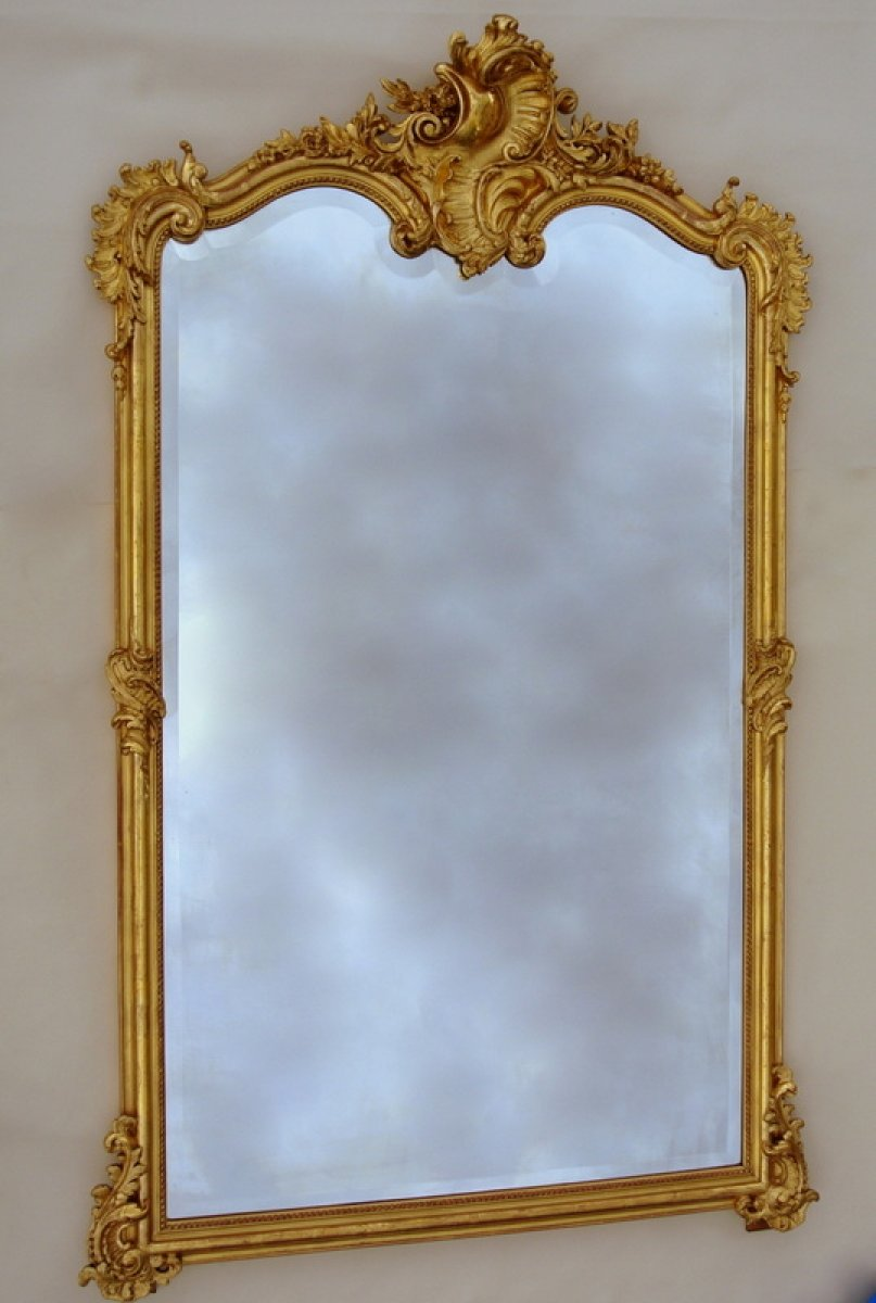 Grand miroir napol on iii xixe si cle for Miroir napoleon iii