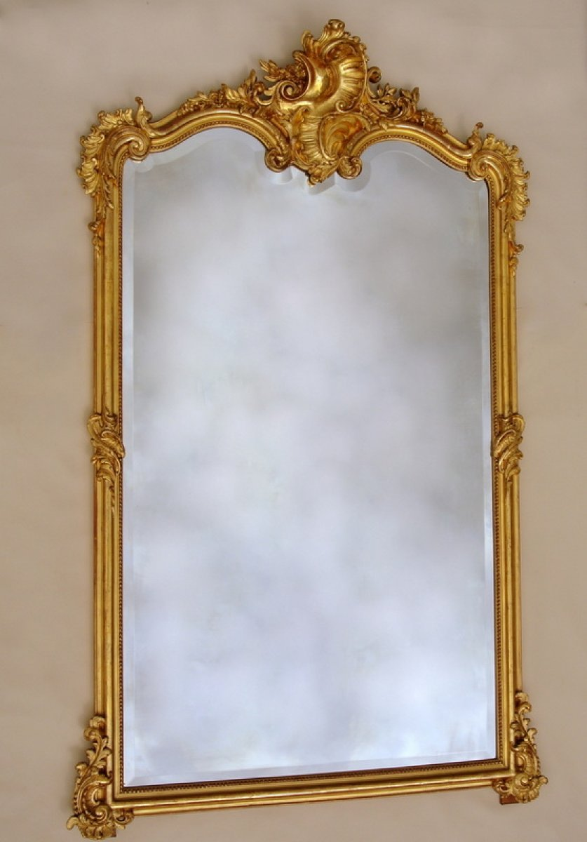 Grand miroir napol on iii xixe si cle for Miroir xix siecle