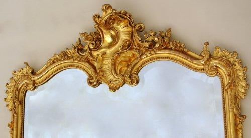19th century - Large Napoleon III Mirror