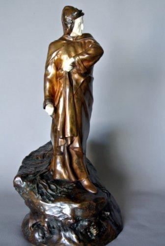 Sculpture  - DANTE ALIGHIERI by Constant DELAIGUE