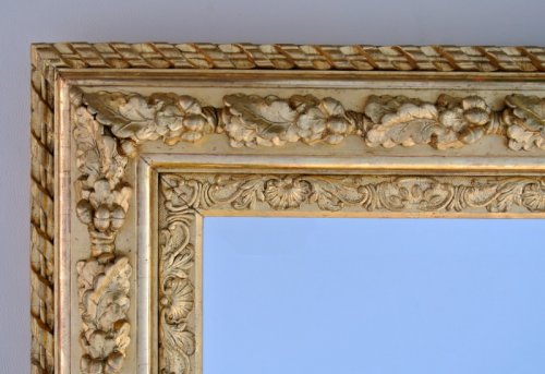 19th century - Mirror with sharp angles mid 19th century