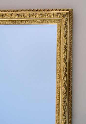 Antiquités - Mirror with sharp angles mid 19th century