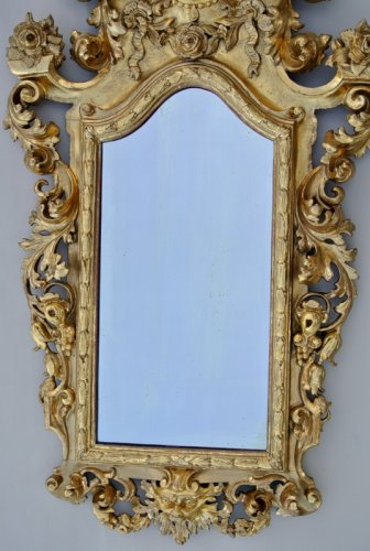 19th century - Early 19th century Giltwood Mirror