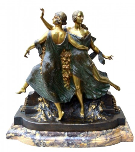 Art-Nouveau statue signed J D Guirande ( Joe Descomps)