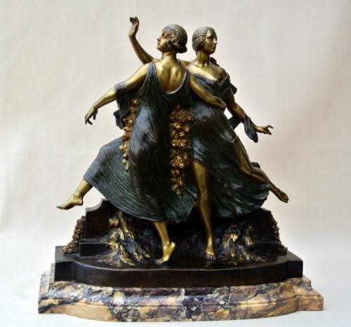 Art-Nouveau statue signed J D Guirande ( Joe Descomps) - Sculpture Style Art nouveau