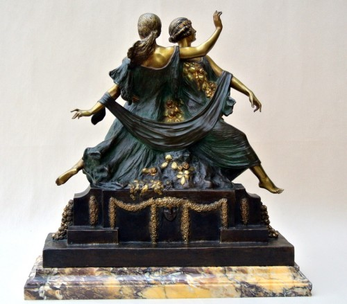 Antiquités - Art-Nouveau statue signed J D Guirande ( Joe Descomps)