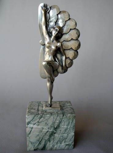 Sculpture  - Music-hall lead dancer signed H MOLINS 1893/1958