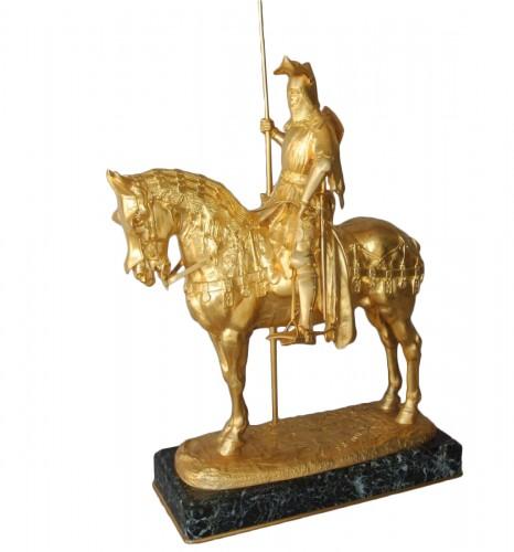 Louis d'Orléans, bronze signed Frémiet