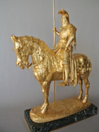 Louis d'Orléans, bronze signed Frémiet -