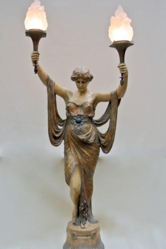 Terracotta of  Goldscheider - Art nouveau