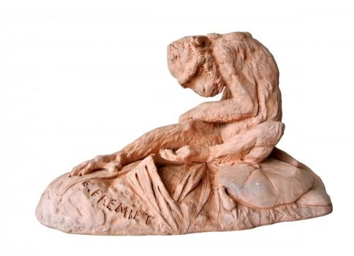 Terracotta signed E FREMIET (Emmanuel Frémiet 1824/1910)