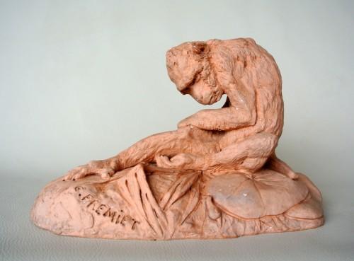 Sculpture  - Terracotta signed E FREMIET (Emmanuel Frémiet 1824/1910)