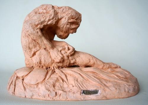 Terracotta signed E FREMIET (Emmanuel Frémiet 1824/1910) -