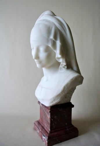 """""""Vestale"""" marble signed Fernand Cian 1886/1954 - Sculpture Style Art Déco"""