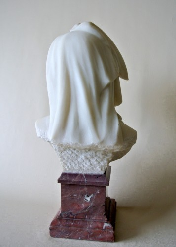 "20th century - ""Vestale"" marble signed Fernand Cian 1886/1954"