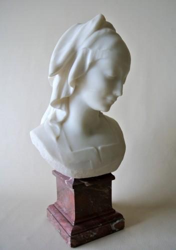 """""""Vestale"""" marble signed Fernand Cian 1886/1954 - Art Déco"""