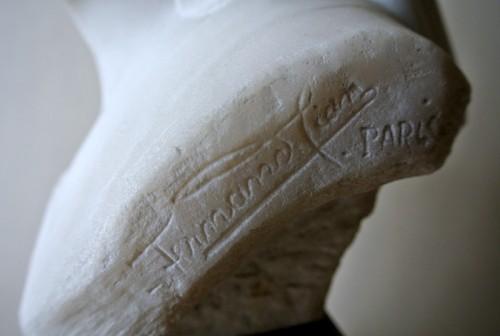 """Art Déco - """"Vestale"""" marble signed Fernand Cian 1886/1954"""