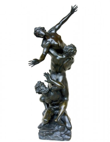 The Rape of the Sabine Women - Bronze group of the late 19th century