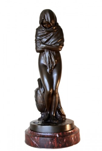 """La Frileuse"" Bronze figure after Houdon"