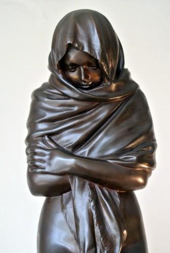 """La Frileuse"" Bronze figure after Houdon - Sculpture Style Napoléon III"